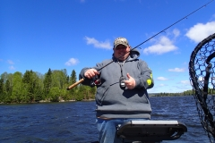 Mike Pease lost fishing pole in lake 5/29, Caught fishing pole 5/30